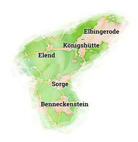 Karte der Kirchenstandorte