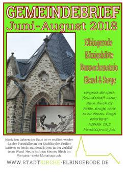 Gemeindebrief Juni 2018