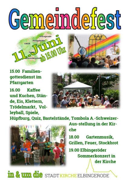 Gemeindefest in Elbingerode am 11. Juni 2017