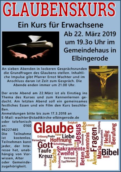 Glaubenskurs, Elbingerode 2019