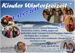 Kinder Winterfreizeit 2017