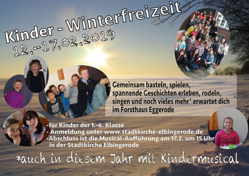 Kinder-Winterfreizeit in Eggerode, 2019