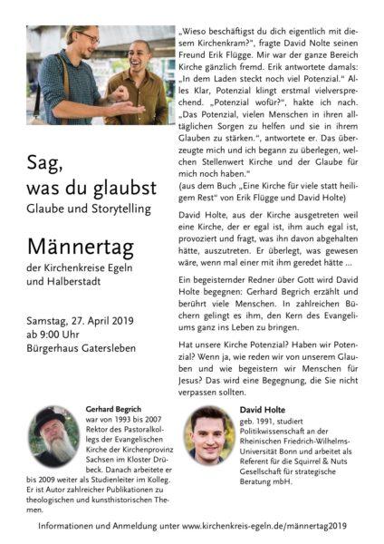 Männertag der Kirchenkreise Egeln und Halberstadt2019