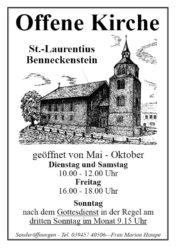 Offene Kirche Benneckenstein
